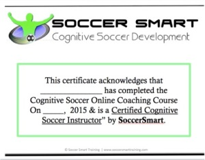 SoccerSmart Certificate Image